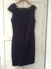 MNG MANGO Navy Blue Pencil Sleeveless Dress M 8 10 12 Shift Work Office Business