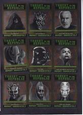 STAR WARS CHROME PERSPECTIVES  SITH FUGITIVES INSERT SET OF 10 CARDS