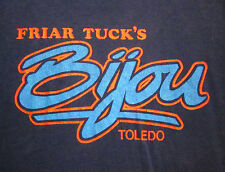 FRIAR TUCK'S BIJOU tee downtown Toledo OHIO lrg T shirt '70s haunted bar defunct