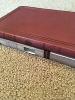 KJV, Thinline Bible, Large Print, Leathersoft, Brown, RED LETTER