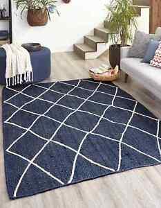 Jute Rug 100% Natural Braided Style Rug Modern Rustic Look Carpet Area Rug