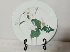 "Block Spal Trillium Watercolors Portugal 10.5"" Dinner Plate  EUC 1981  BEAUTIFUL"