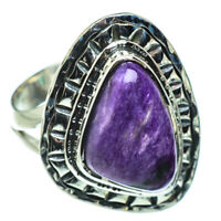 Charoite 925 Sterling Silver Ring Size 8 Ana Co Jewelry R47578F