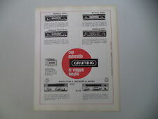 advertising Pubblicità 1967 AUTORADIO GRUNDIG WELTKLANG 2000/3000/4000/4500