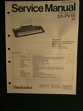 Technics PCM Digital Piano SX-PV10 Service Repair Shop Manual Wiring SX PV 10