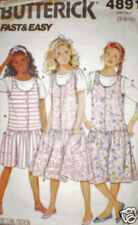 Vintage Butterick Sewing Pattern Jumper Top 4891 7 8 10 SEWING