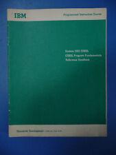 IBM System 360 Cobol Programmed Instruction Course: Program Fundamentals 1966