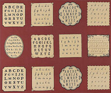 Moda French General La Petite Ecole Vintage Alphabet Panel 13560-19 Fabric