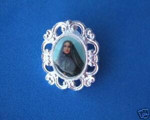 Vintage Catholic Broach Brooch lapel Pin ST. FRANCES CABRINI