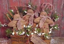 Primitive Gingerbread Boy Christmas Filler Holiday Tuck Winter Paper PATTERN