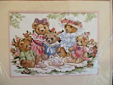Dimensions Teddy Tea Party Picnic Counted Cross Stitch Kit Dawna Barton 3733