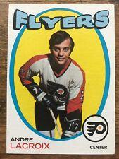 1971/72 Topps Hockey Card #33 Andre Lacroix Philadelphia Flyers EX+