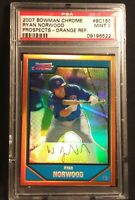 2007 Bowman Chrome Ryan Norwood Prospects Orange Refractor SP 19/25 #BC155 MT 9