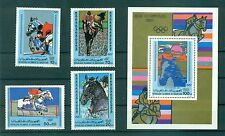 JEUX OLYMPIQUES - OLYMPIC GAMES MOSCOW 1980  MAURITANIA 1980 set+block