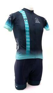 Panache Pro Trailhead Racing Short Sleeve Cycling Kit Men MEDIUM Blue Road Bike