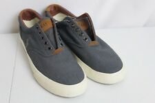 Polo Ralph Lauren Vaughn Chambray Canvas Fashion Sneakers 9.5 D Laces Up Shoes