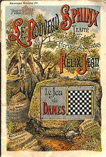 "FELIX JEAN "" LE JEU DE DAMES "" BIBLIOTHEQUE RECREATIVE VERS 1920"