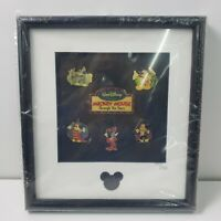 Disney Mickey Mouse Through The Years 6 Pin Set  Framed & Numbered 777/1928