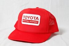 Vintage Toyota Industrial Equipment Patch Logo Red Trucker Hat Snapback Cap