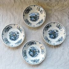 Set 4 Mason's Ironstone Blue Multicolour Fruit Basket Individual fruit salad