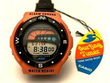 Rare Vintage Casio SUF-100 Surfing Timer Digital Watch Alarm Chronograph *NOS*