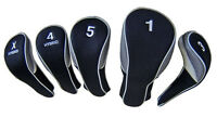 Calibre Deluxe Set of 5 Easy-Off Headcovers (460cc #1, 3W, 5W, Hybrid 4 & X)