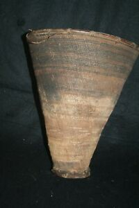 Old Conical Tanzanian burden basket. Suouma group.