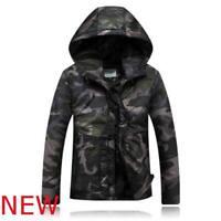 Jacket Autumn Warm Parka Winter Hooded Outwear Coat Cotton Overcoat Men's