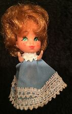 "Vintage 3"" Mattel ""The Littles"" Doll Movable Arms & Legs Green Eyes Freckles"
