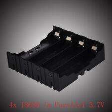 1* 4 pcs 18650 in Parallel 3.7V Pole Battery Box Holder Batteries Case Box POP