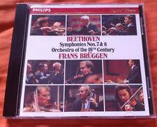 BEETHOVEN - Symphonies Nos. 7&8 BRUGGEN WG Philips PDO full silver no IFPI