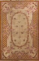Antique Traditional Victorian Style Agra Oriental Area Rug Hand-knotted Wool 6x9