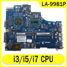 For Dell Inspiron 15R 3537 5537 LA-9981P i3/i5/i7 CPU Motherboard 100% work