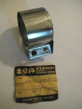 SUZUKI X6 T20 TC250 RIGHT MUFFLER CONNECTOR BAND CLAMP NOS!