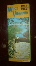 1967 1968 West Virginia  official highway road  map  oil  gas Schell illustrator