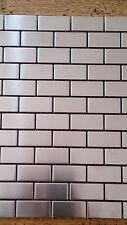 MosaicTile Sheets Stainless Brick Pattern 300X300, Feature Wall, Splashback