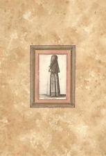 MULIER DIEPANA- Costume - HOLLAR WENZEL - Incisione Originale 1649