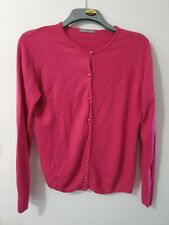 Marks and Spencer Long Sleeve Fuchsia Pink Buttoned Cardigan Size 14