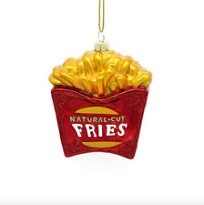 Natural Cut French Fries Christmas Ornament Fast Food Glass Collectible New NWT