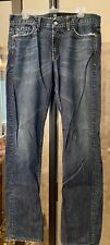 7 For All Mankind Slimmy Mens Distressed Jeans Sz 33 X 34