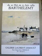 BARTHELEMY Gérard Affiche originale 1984 Marine port Galerie Jamault Versailles