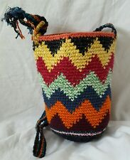 CROCHET GUATEMALAN PURSE  HANDMADE ULTRA THICK CROCHET PURSE  HIPPIE BOHO PURSE