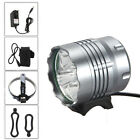 Recargable 12000Lm 5x XM-L U2 LED Front Bicicleta Luz Faro+6400mAh+AC+Rear Light