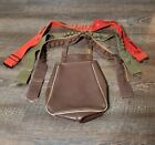 Vintage Kolpin Brown Leather Hunting Shell Belt Bag with three shell belts