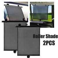 1 SET Retractable Car Side Window Baby Sun Shade Shield Cover Roll Curtain Visor