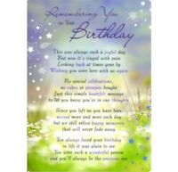 💔Grave Card REMEMBERING YOU ON YOUR BIRTHDAY Verse Memorial Funeral Memoriam💔