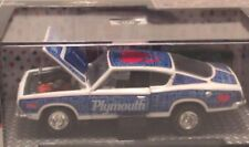 M2 MACHINES 1968 68 PLYMOUTH BARRACUDA HEMI SUPER STOCK MOPAR -White/Blue
