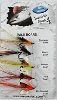 Dragon, Wild Boars Selection, Mustad Double Hooks, Salmon Fly Fishing Flies