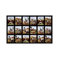 Sports Afield Duck Hunting Cotton Fabric Panel Elizabeth Studio Black   Bfab