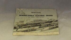 HORNBY DUBLO INSTRUCTIONS FOR RUNNING HORNBY DUBLO TRAINS NO 16/752/20-C7106